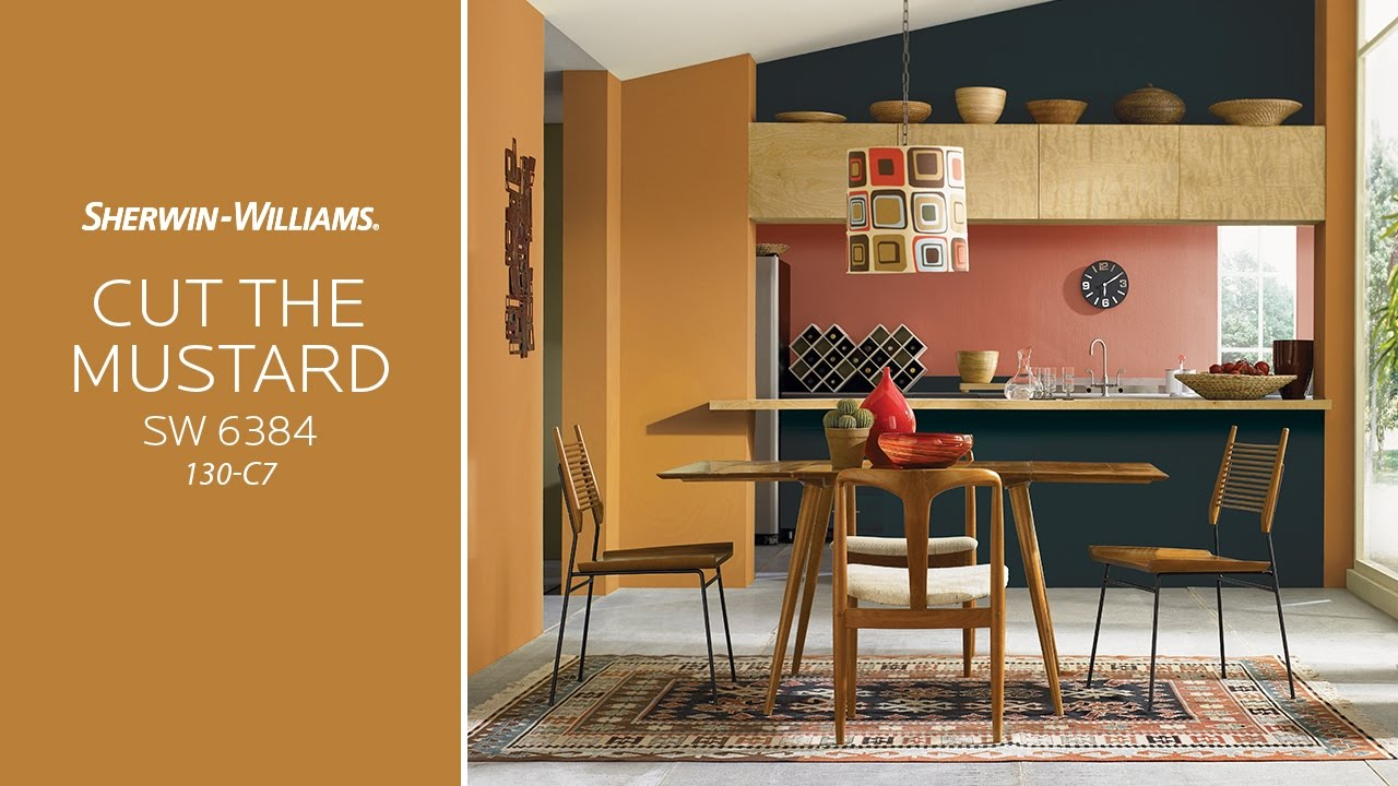 Mustard Color Paint For Kitchen May 2017 Color Of The Month Cut The Mustard Sherwin Williams