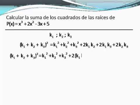 Aplicaciones de las fórmulas de Vieta- Parte II