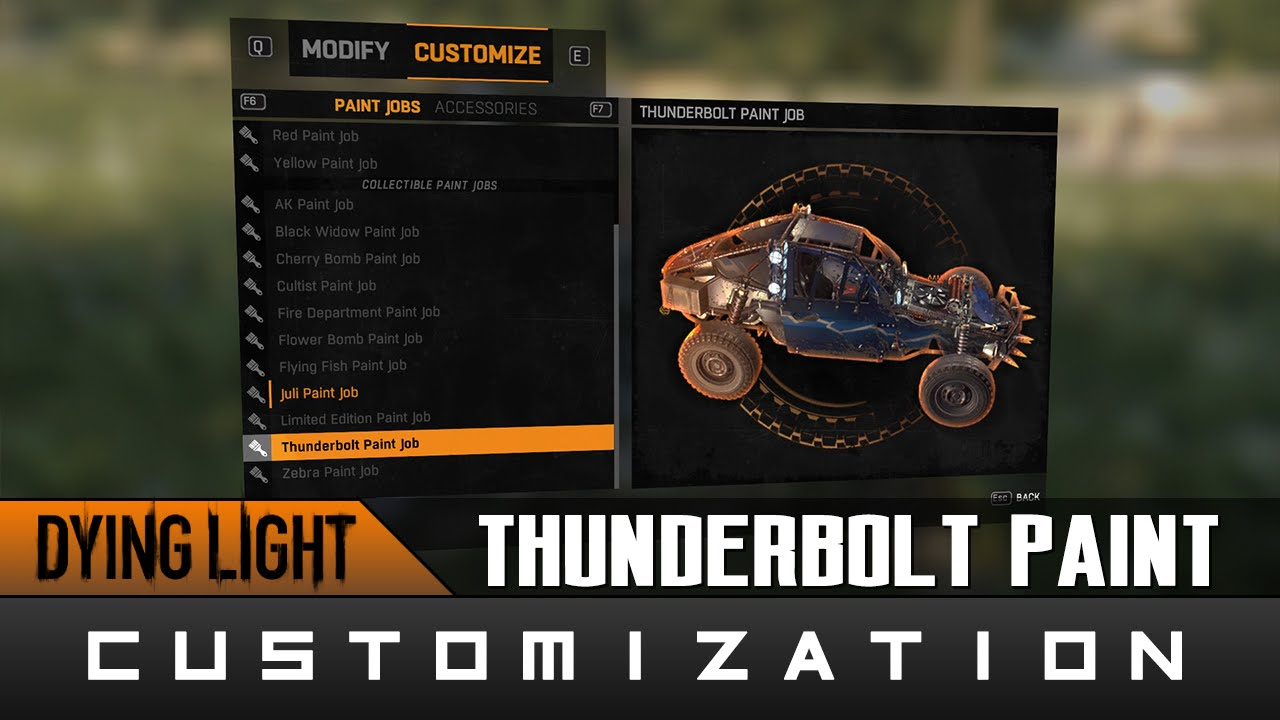 Dying Light Thunderbolt Paint Job