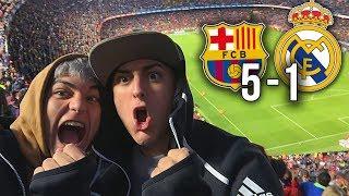 REACCIÓN de DOS HINCHAS al FC BARCELONA 5-1 REAL MADRID [humillación]