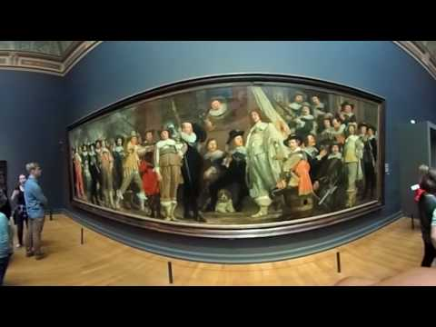 360 Travel Video of The Rijksmuseum in Amsterdam, Netherlands 2016!