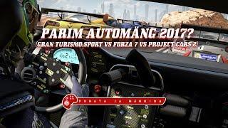 Puhata ja mängida: Parim automäng 2017? (GT:Sport vs Forza 7 vs Project Cars 2)