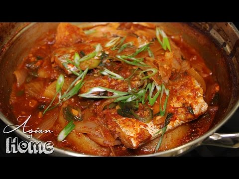Korean Spicy Braised Beltfish (Galchi Jorim)