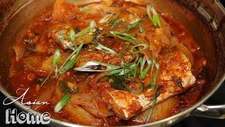 Asian at Home | Korean Spicy Braised Beltfish (Galchi Jorim)