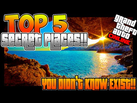 GTA 5 Online: TOP 5 Places You Don't Know Exist! SECRET Locations! (GTA 5)