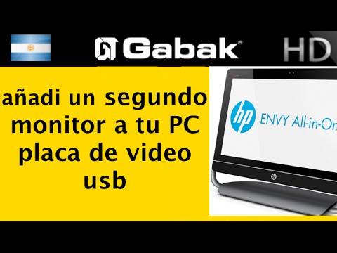 Como conectar segundo monitor all in one PC adaptador vga a usb