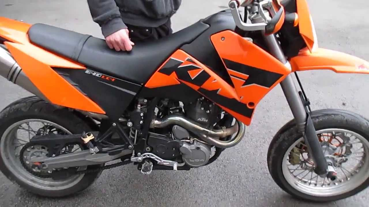 ktm 640 lc4 2006 with wings exhaust youtube. Black Bedroom Furniture Sets. Home Design Ideas