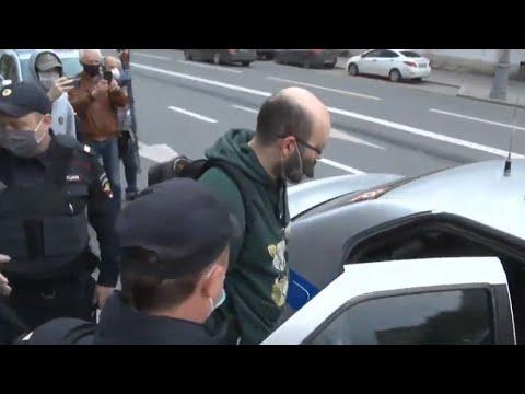 Полиция задержала участников акции у ГУВД Москвы