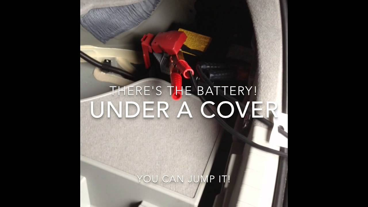 Prius With A Dead Battery In Garage