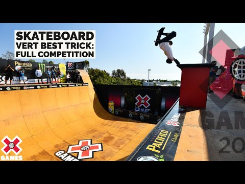 Pacifico Skateboard Vert Best Trick: FULL COMPETITION | X Games 2021