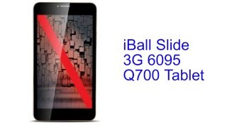 iBall Slide 3G 6095 Q700 Tablet Specification [INDIA]