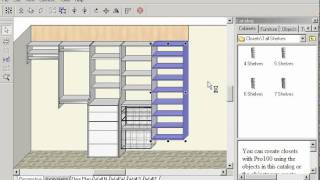 Closet Layouts In Pro100