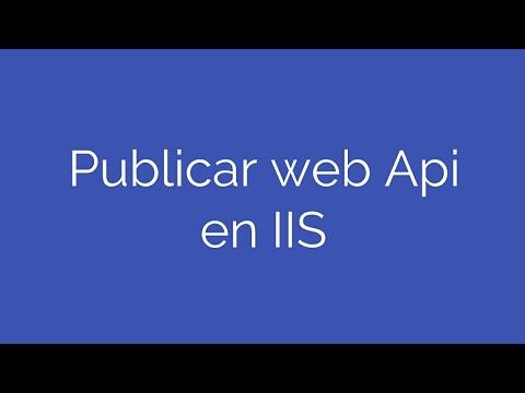 Publicar Web Api en IIS