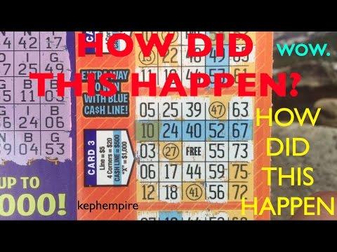 WOW DID THAT JUST HAPPEN?! Cashline Bingo $3 California Lottery Scratcher