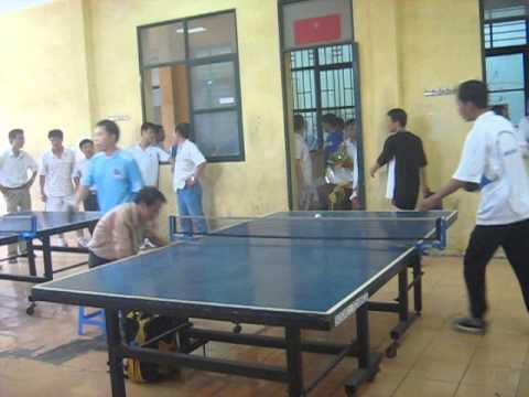 Vận động viên của Interserco thi đấu bóng bàn tại Hội Khỏe CNVCLĐ quận Đống Đa