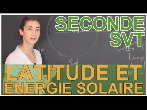Latitude et énergie solaire reçue à la surface de la Terre - SVT - Seconde - Les Bons Profs