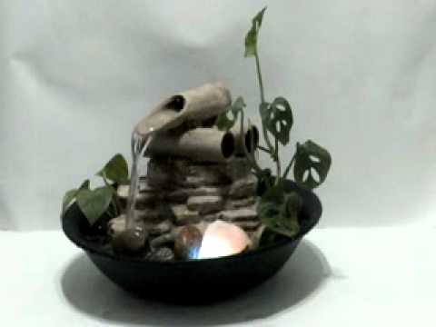 fuente de agua feng shui modelo bamboo de