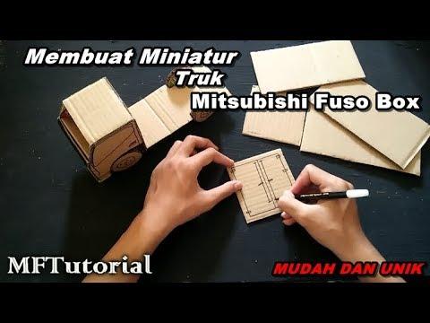 Keren Membuat Miniatur Truk Fuso Box Dari Kardus Ide Kreatif