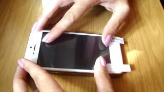 Как наклеить защитную пленку на Iphone 5