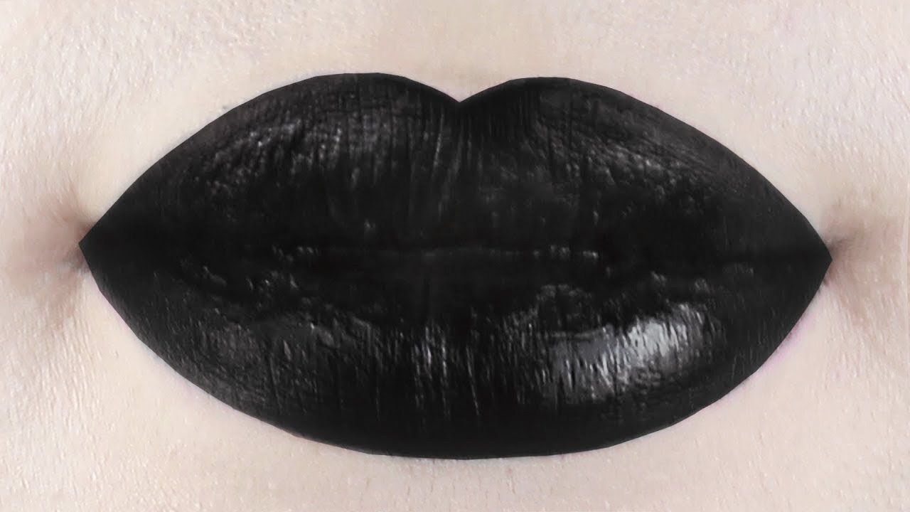 Rihanna Monster Inspired Black Lipstick Tutorial | Joseph ...