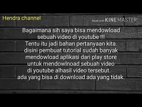 Cara Mendownload Semua Video Dari Youtube Facebook Dan Mp3 Hendra