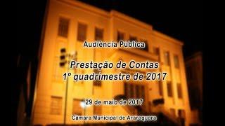 Audiência Pública - Prestação de Contas 1º Quadrimestre de 2017