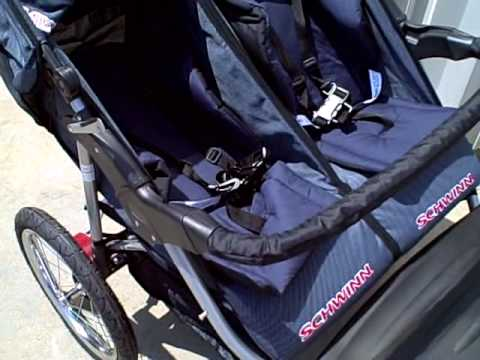 Schwinn Turismo Swivel Double Stroller Review - YouTube