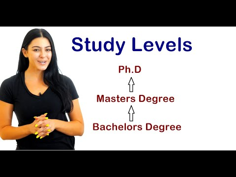 Different Types of Study Levels Education System | Bachelors Masters PHD