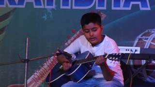 Guitar Playing Performed by Krishna Students Of Jaipur Sangeet Mahavidyalaya