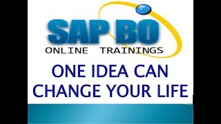 SAP BusinessObjects Design Studio training