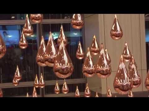 Kinetic Rain Art Installation - World's Largest Kinetic Sculpture