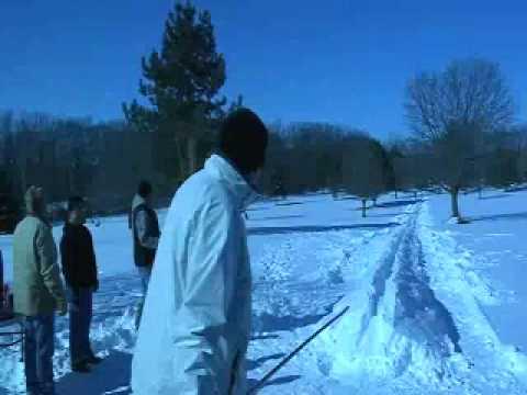 Snow Snake in Oneida WI 2009