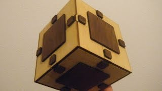 Home Made Puzzle Box With Laser Cutted Wood
