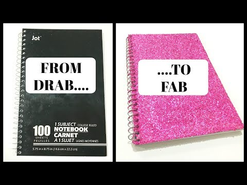 UPCYCLE DIY   HOW TO MAKE A GLITTER NOTEBOOK