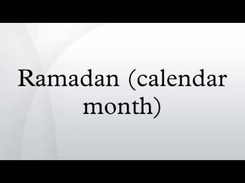 Ramadan (calendar month)