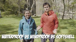 Waterproof vs Windproof vs Softshell