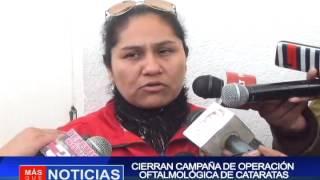 CIERRAN CAMPAÑA DE OPERACIÓN  OFTALMOLÓGICA DE CATARATAS