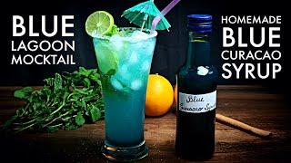 Blue Curacao Lemonade | Blue Lagoon Mocktail | How to Make Blue Curacao Syrup@My Lockdown Rasoi