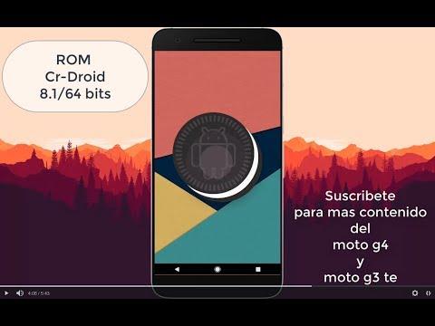 Android 8.1.0 para Moto G4/plus Rom CrDroid v4.2 32BITS