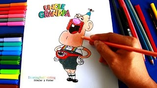 How to draw UNCLE GRANDPA | Como dibujar a TÍo Grandpa