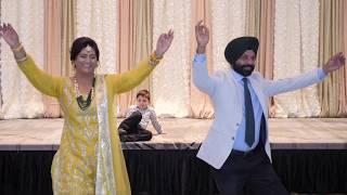 Bride's Family Introduction Dance Performance at Sangeet - PUNJABI WEDDING
