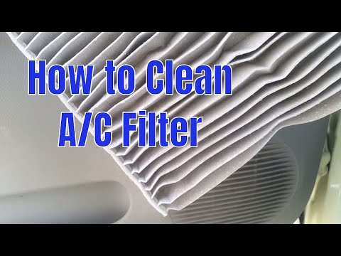 How to clean AC filter and improve performance of AC