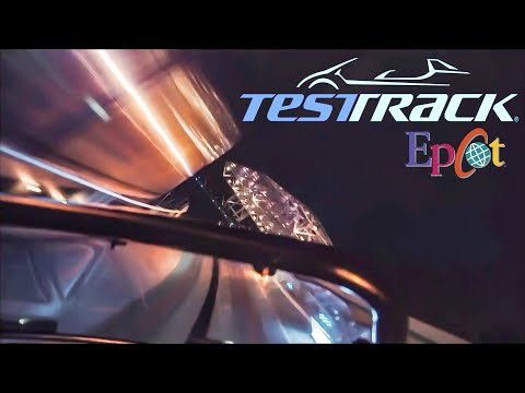 [4k] Epcot's Test Track - Night Ride POV