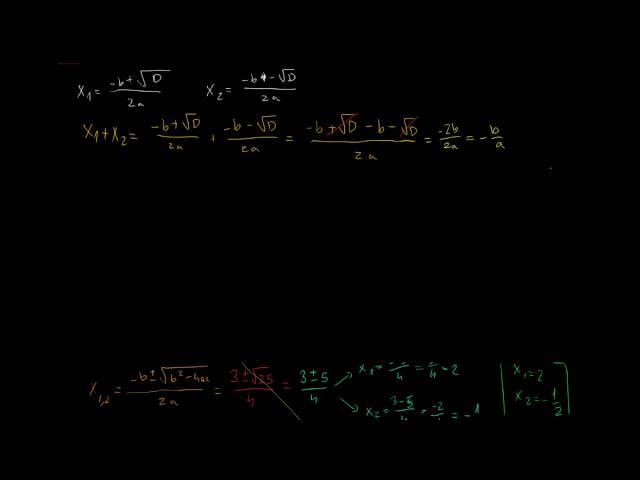 Gyöktényezős alak - gyökök és együtthatók közti összefüggések (2. rész)