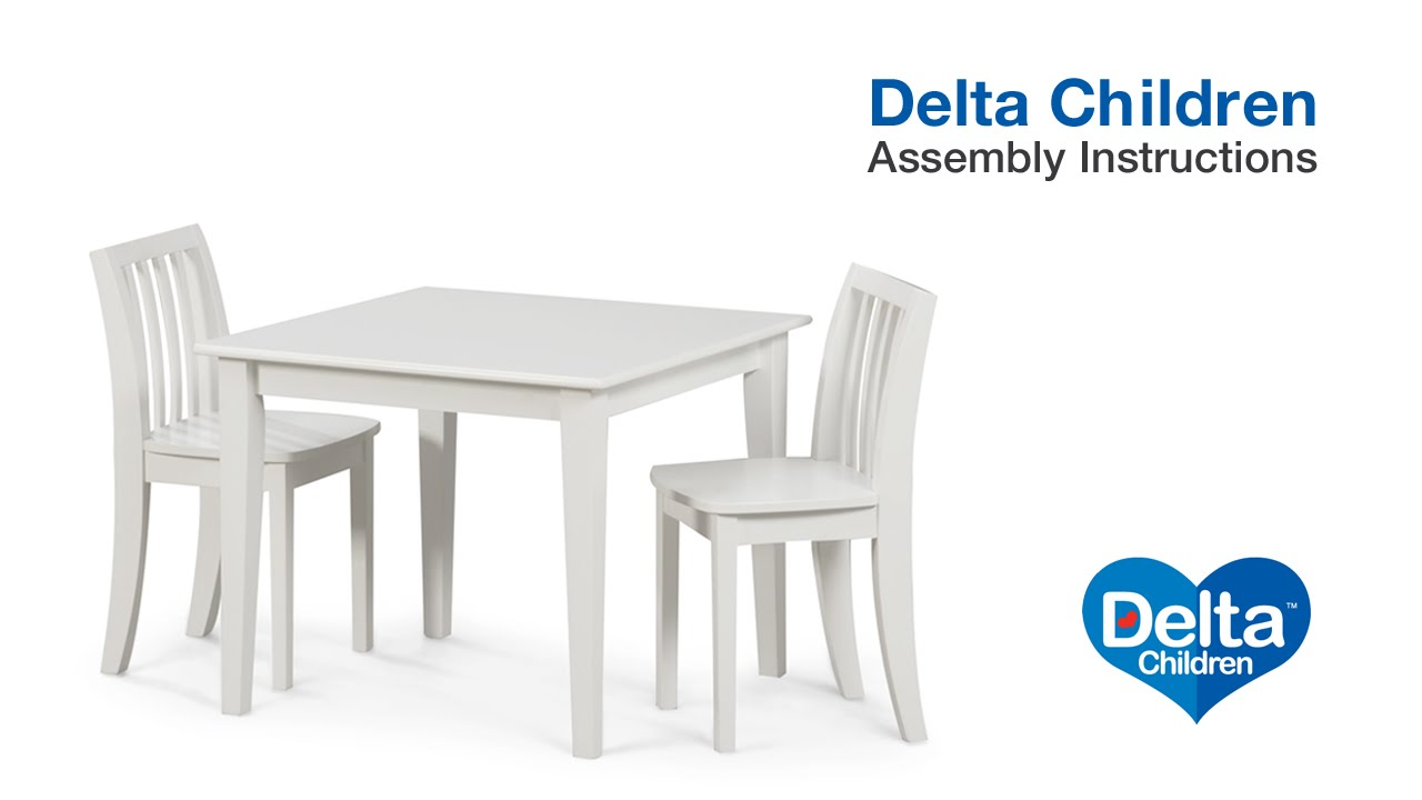 Delta Children Chair Delta Children Table Chair Set Assembly Video