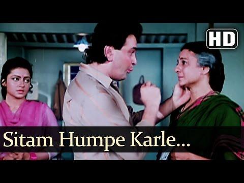 Sitam Humpe Karle Sitamgar Zamanaa - Rishi Kapoor - Govinda - Gharana - Bollywood Family Song
