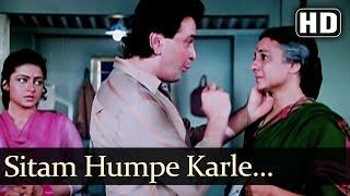 Sitam Humpe Karle Sitamgar Zamanaa - Rishi Kapoor - Govinda - Gharana - Bollywood Songs