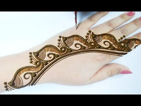 Simple And Attractive Mehndi Design of New Shape - सूंदर मेहँदी डिज़ाइन कैसे लगाएं - Easy Mehndi