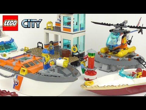 LEGO City Coast Guard Headquarters - Playset 60167 Toy Unboxing & Speed Build