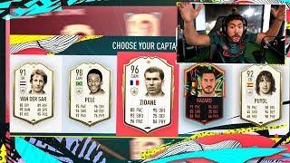 OMG 4 ICONS IN 1 DRAFT! GF OPENS REWARDS! FIFA 20